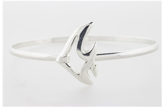 Angelfish Sterling Silver Bangle Bracelet