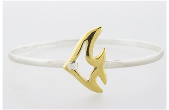 Angelfish Vermeil Bangle Bracelet