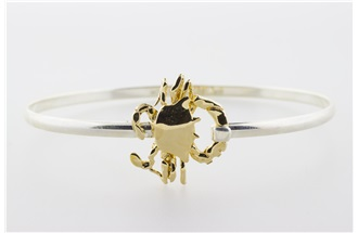 Crab Vermeil Bangle Bracelet