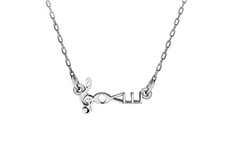 "Rhodium Necklace by Love Notes & 2"" necklace extender"