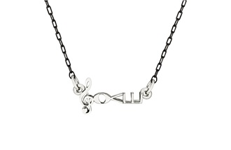 "Silver Finish Necklace by Love Notes & 2"" necklace extender"
